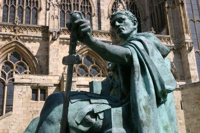 Statue of Constantine the Great, York, North Yorkshire-Peter Thompson-Photographic Print