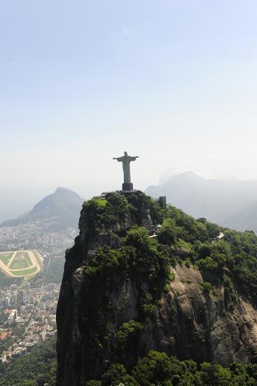 Statue Of Corcovado Cristo Redentor In Rio De Janeiro Brazil, City Of Games Os 2016-mangostock-Photographic Print