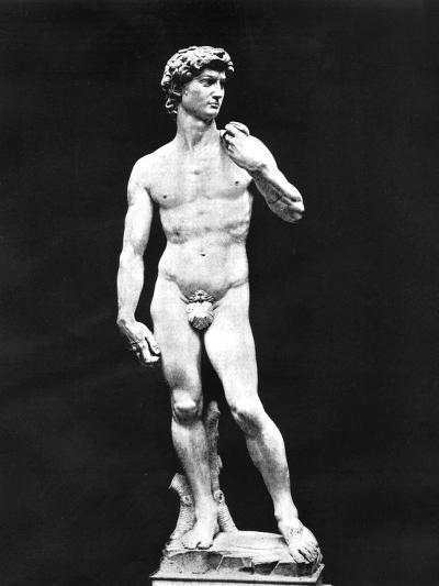 Statue of David, Florence, Italy, 1893-John L Stoddard-Giclee Print