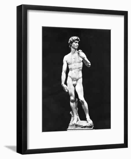 Statue of David, Florence, Italy, 1893-John L Stoddard-Framed Giclee Print