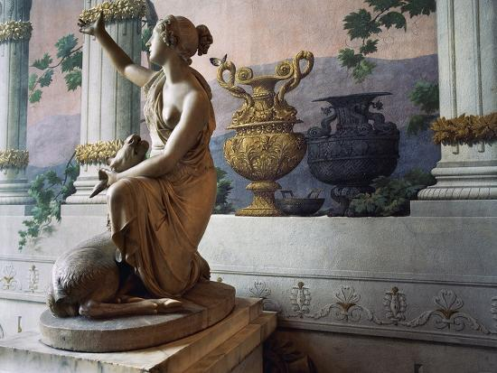 Statue of Diana, Gallery of Statues, Ducal Palace, Lucca, Tuscany, Italy--Photographic Print