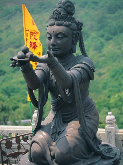 Statue of Disciple of Tian Tan Buddha-Stewart Cohen-Photographic Print