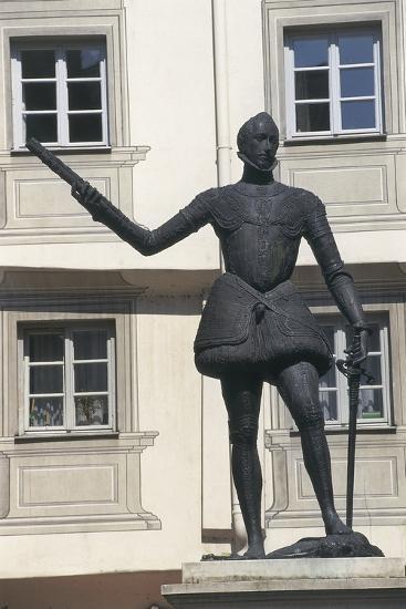 Statue of Don John of Austria, Regensburg, Bavaria, Germany--Giclee Print