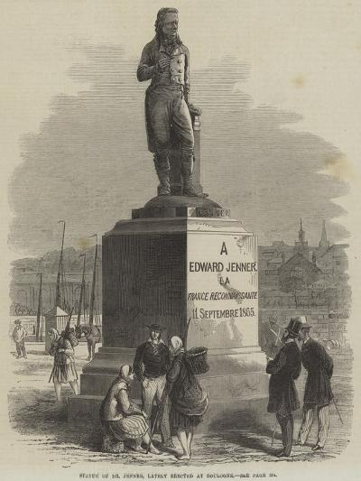 Statue of Dr Jenner, Lately Erected at Boulogne--Giclee Print