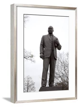 Statue Of Dr. Martin Luther King, Jr., In The Kelly Ingram Park, Birmingham, Alabama-Carol Highsmith-Framed Art Print