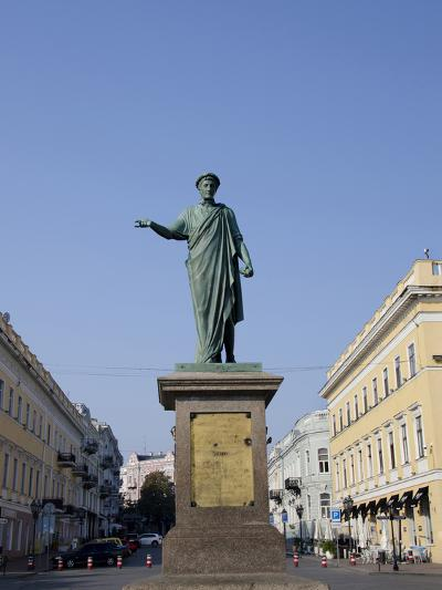 Statue of Duke De Richelieu, Odessa, Ukraine-Cindy Miller Hopkins-Photographic Print