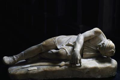 Statue of Dying Persian, Roman Copy in Marble from Original Made by School of Pergamon--Giclee Print