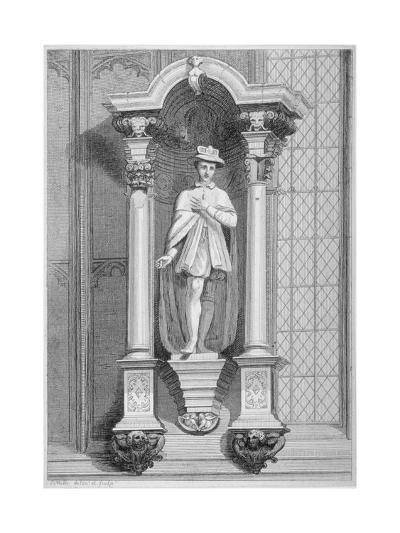 Statue of Edward Vi, Guildhall Chapel, City of London, 1822-T Mills-Giclee Print