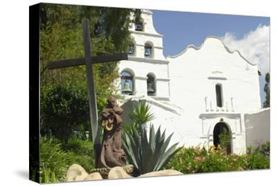 Statue of Father Junipero Serra in Front of San Diego Mission, First of the Spanish Missions in CA