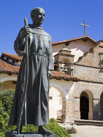 Statue of Father Junipero Serra Outside Mission San Antonio, Monterey County, California, United St-Richard Cummins-Photographic Print