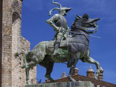 Statue of Francisco Pizarro, Plaza Mayor, Trujillo, Extremadura, Spain, Europe-Jeremy Lightfoot-Photographic Print