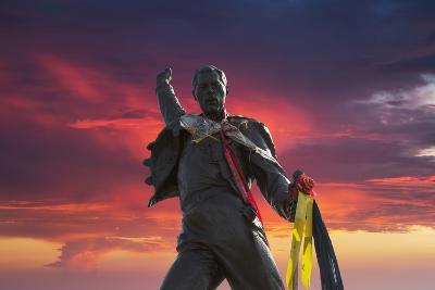 Statue of Freddy Mercury, Montreux, Canton Vaud, Switzerland, Europe-Angelo Cavalli-Photographic Print