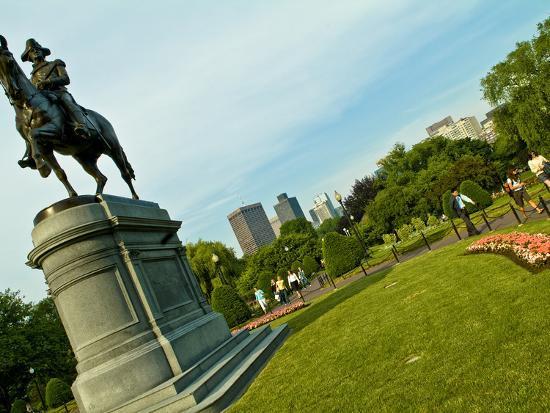 Statue of George Washington in the Boston Public Garden-Richard Nowitz-Photographic Print