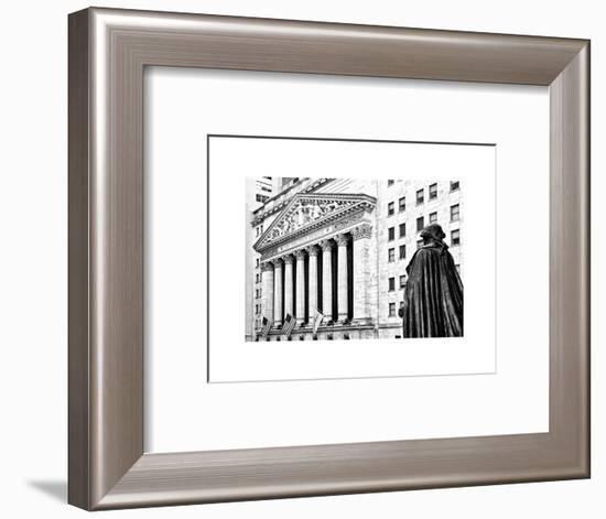 Statue of George Washington, New York Stock Exchange Building, Wall Street, Manhattan, NYC-Philippe Hugonnard-Framed Photographic Print