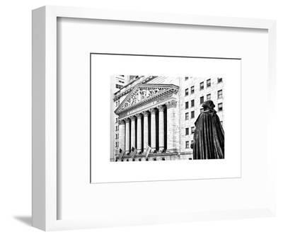 Statue of George Washington, New York Stock Exchange Building, Wall Street, Manhattan, NYC-Philippe Hugonnard-Framed Photographic Print