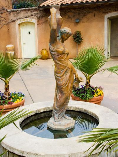Statue of Goddess at Viansa Winery, Sonoma Valley, California, USA-Julie Eggers-Photographic Print