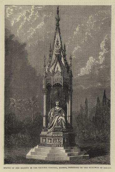 Statue of Her Majesty in the Victoria Gardens, Bombay, Presented by the Guicowar of Baroda--Giclee Print