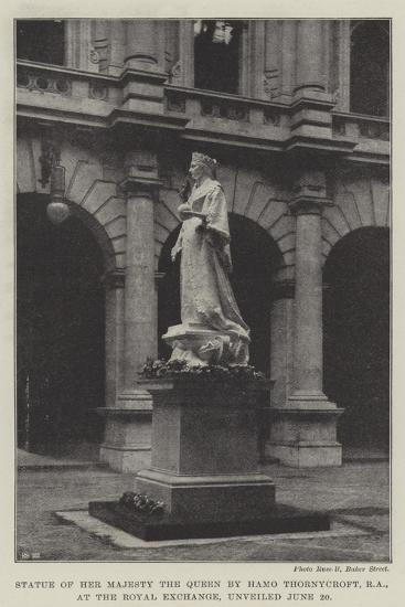 Statue of Her Majesty the Queen by Hamo Thornycroft, Ra, at the Royal Exchange, Unveiled 20 June--Giclee Print