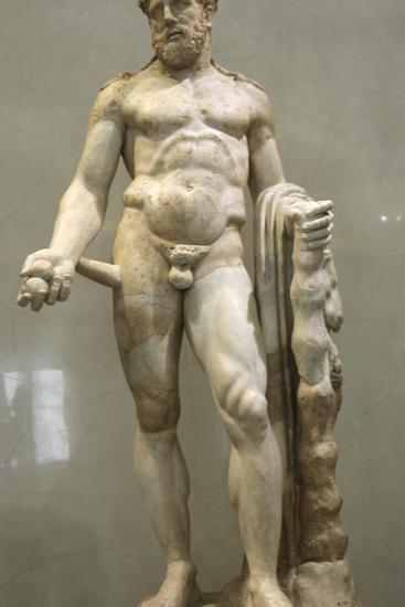 Statue of Heracles, 2nd Century--Photographic Print