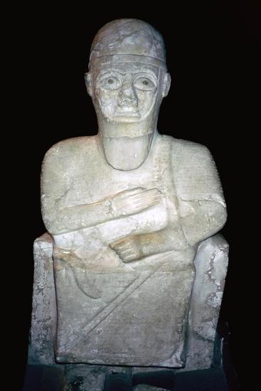 Statue of Idrimi, Late Bronze Age/Syrian, 16th century BC. Artist: Unknown-Unknown-Giclee Print