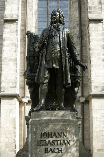 Statue of J. S. Bach on Grounds of St. Thomas Church, Leipzig, Germany-Dave Bartruff-Photographic Print