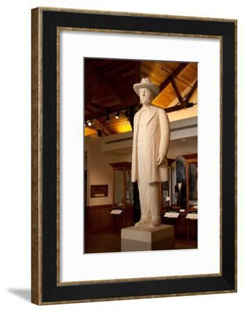 Statue of Jack Daniels at the Whiskey Distillery in Lynchburg Tennessee--Framed Photographic Print