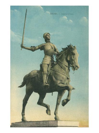 Statue of Jeanne d'Arc--Art Print