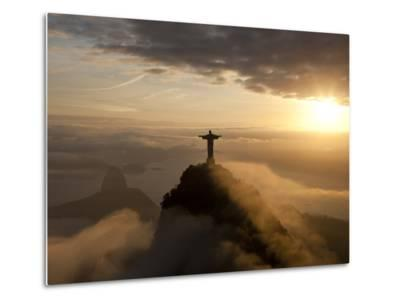 Statue of Jesus, known as Cristo Redentor (Christ the Redeemer), on Corcovado Mountain in Rio De Ja-Peter Adams-Metal Print