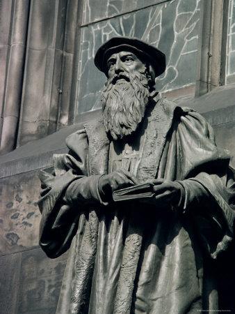 Statue of John Knox, Edinburgh, Lothian, Scotland, United Kingdom-Adam Woolfitt-Photographic Print