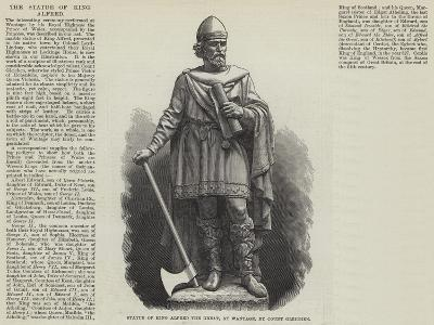 Statue of King Alfred the Great, at Wantage--Giclee Print