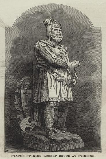 Statue of King Robert Bruce at Stirling--Giclee Print