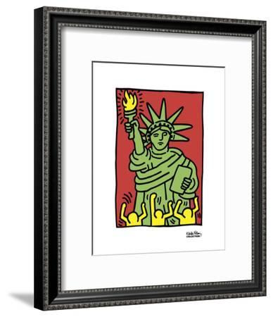 Statue of Liberty, 1986-Keith Haring-Framed Art Print