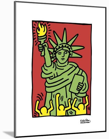 Statue of Liberty, 1986-Keith Haring-Mounted Art Print