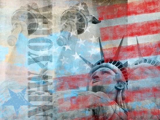 Statue Of Liberty 2-Lebens Art-Art Print