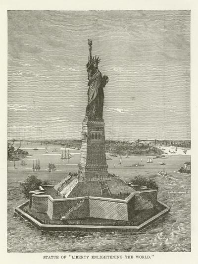 """Statue of """"Liberty Enlightening the World""""--Giclee Print"""