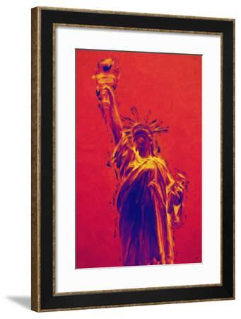 Statue of Liberty II - In the Style of Oil Painting-Philippe Hugonnard-Framed Giclee Print