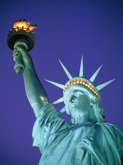 Statue of Liberty in New York City at dusk-Alan Schein-Photographic Print