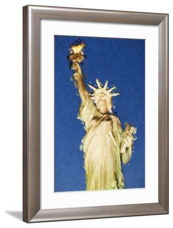 Statue of Liberty - In the Style of Oil Painting-Philippe Hugonnard-Framed Giclee Print