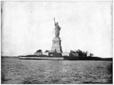 Statue of Liberty, New York Harbour, Late 19th Century-John L Stoddard-Giclee Print