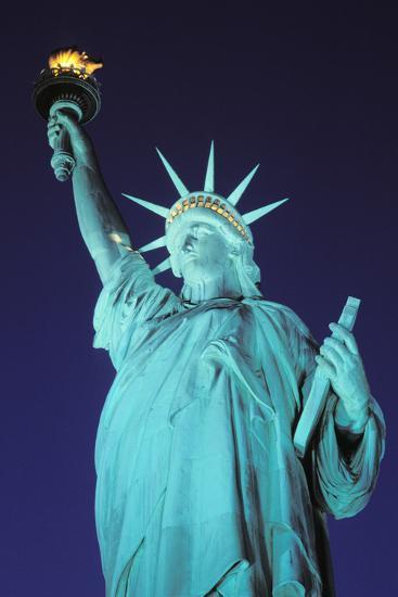 Statue of Liberty, New York, USA-Peter Bennett-Photographic Print