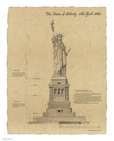 Statue of Liberty New York-Yves Poinsot-Art Print
