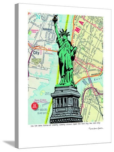 Statue Of Liberty - Nyc--Stretched Canvas Print