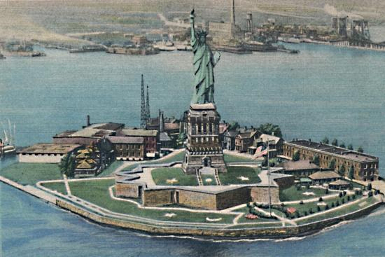 'Statue of Liberty on Bedloe's Island in New York Harbor. New York City', c1940s-Unknown-Giclee Print