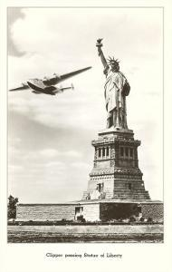 Statue of Liberty with Clipper, New York City