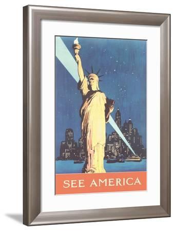 Statue of Liberty--Framed Art Print