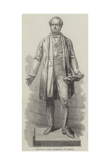Statue of Lord Palmerston at Romsey--Giclee Print