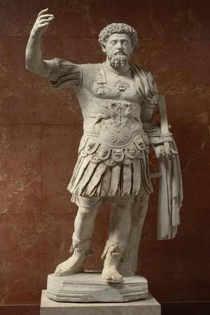 Statue of Marcus Aurelius, Emperor from 161-180 Ad--Stretched Canvas Print