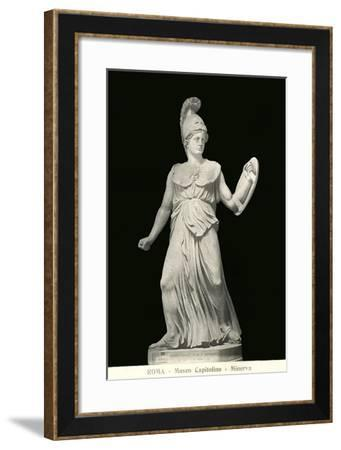 Statue of Minerva--Framed Art Print