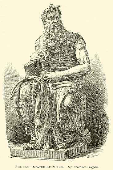 Statue of Moses--Giclee Print
