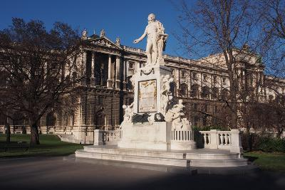 Statue of Mozart in Burggarten in Vienna-salparadis-Photographic Print
